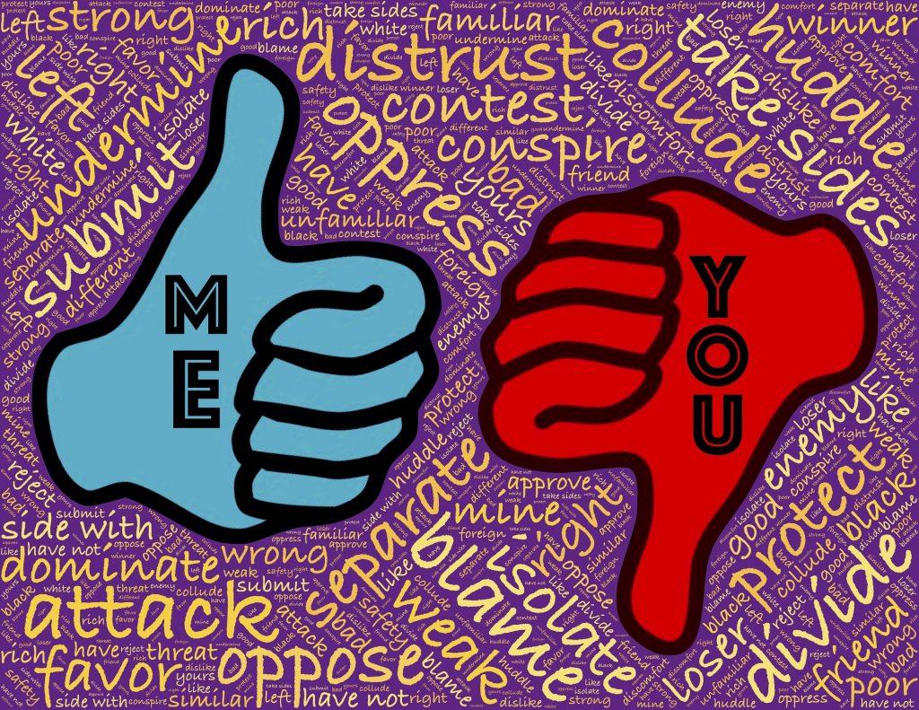 Les conflits et sentiments d'oppositions